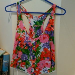 Free People Intimately floral top size small